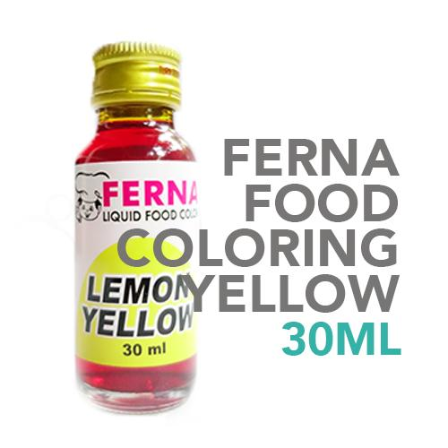 Ferna Food Coloring Yellow 30 ml