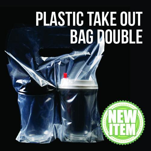Beverage Plastic Take Out Bag Double 100s