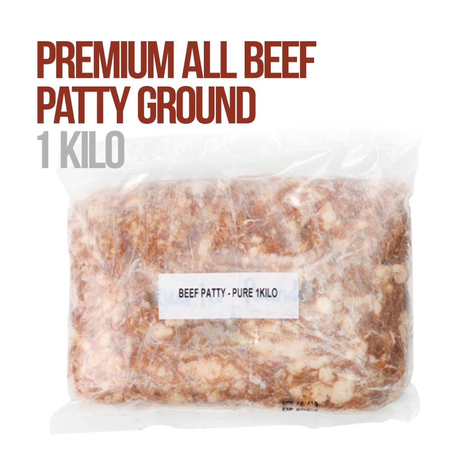 Premium All Beef Patty Ground 1 kg