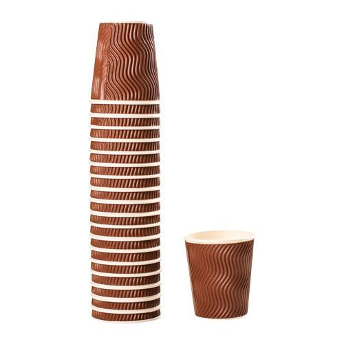 Rippled Cup Brown 8 oz x 20s