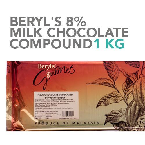Beryl's 8 % Milk Chocolate Compound 1 kg