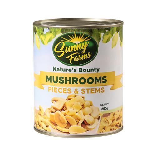Sunny Farms Nature's Bounty Pieces & Stems Mushrooms 850 g