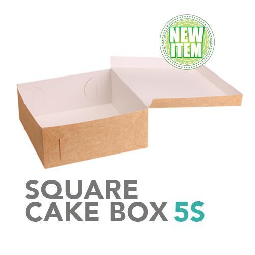Square Cake Box 12x12x5 5s