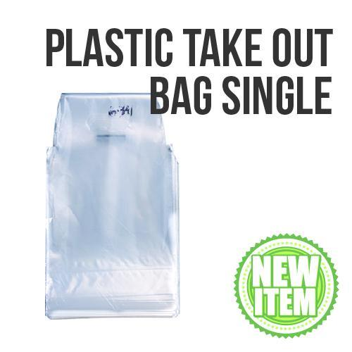 Beverage Plastic Take Out Bag Single 100s